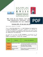 Circular 002 Ponentes y Resúmenes Aceptados XVIII Encuentro Iberoamericano