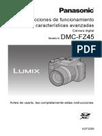 Instrucciones para Lumix cámara de fotografía