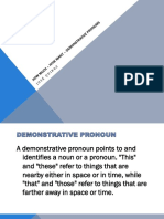 How Much – How Many – Demonstrative Pronums