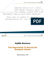 MySQL fundraising pitch deck