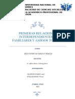 PRIMERAS RELACIONES INTERPERSONALES