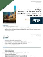 Curso Técnicas de Estimulación Cognitiva