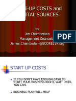 Start-up Costs and Capital Sources Byob