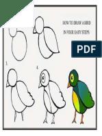 Cara Lukis Burung