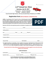 2017 Car Show Registration Form