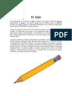 Elaborando El Lapiz