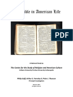 Bible in American Life Report March 6 2014