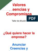 Valores y Compromisos Taller de difusión.ppt