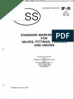 MSS SP-25 Standard Marking for Fitting, Valves, Flanges
