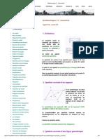 Mathematics 2 _ Géométrie