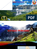 Exposicion Cultura y Realidad Nacional Nueva Division Del Estado Peruano y Regionalizacion Del Peru