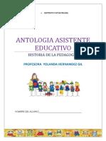 Antologia Historia de La Pedagogia 2017