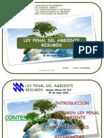 Resumen Ley Penal Del Ambiente 2012