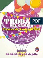 PROGRAMA DE FIESTAS DE TROBAJO DEL CAMINO  2017