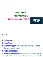Report Preparation- MIP