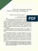 El XIV Centenario Del Nacimiento de San Isidoro Arzobispo