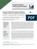 Estructura factorial de las Escalas de Bienestar Psicologico 1