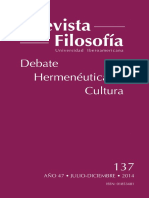 Revista de Filosofía Universidad Iberoamericana
