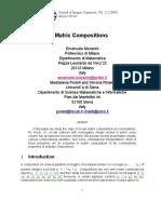 Matrix Compositions