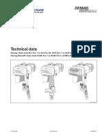 DC Pro Chain Hoist Tech Data