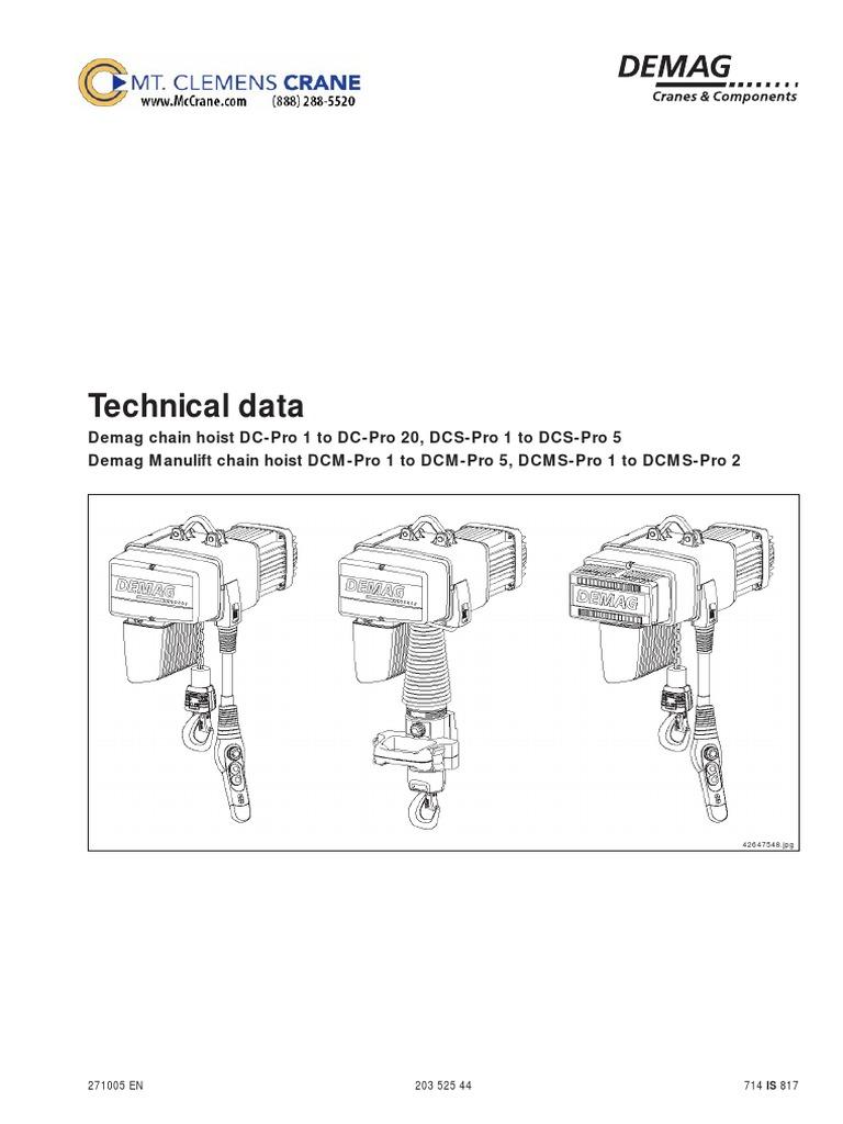 Demag Hoist Wiring Diagram Demag Tpi Coil Wiring Diagram Western ...