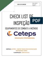 Check List Inspeção Combate a Incêndio