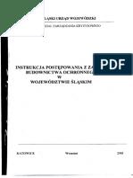 Instrukcja postępowania z zasobami budownictwa ochronnego w województwie śląskim (2003)