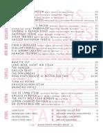 Quality Eats UES dinner menu