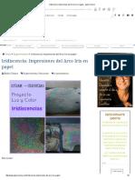 Iridiscencia_ Impresiones Del Arco Iris en Papel - ExperCiencia