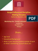 gospel influenced discipline