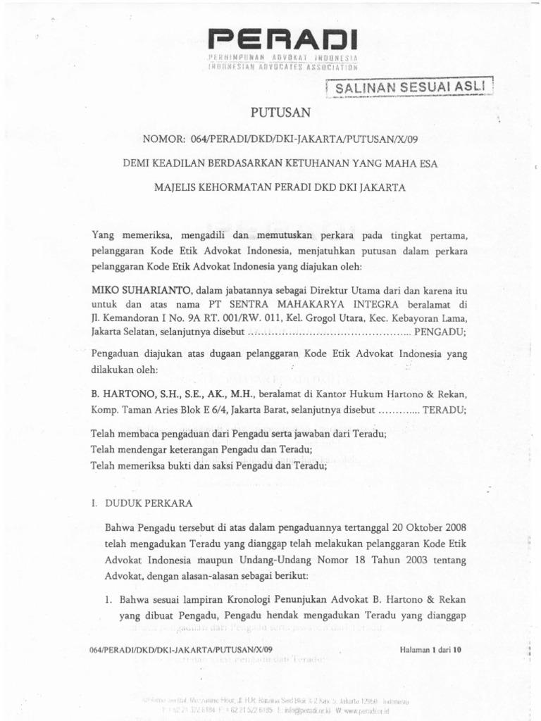 Contoh Surat Perjanjian Sukses Fee Advokat - Kumpulan ...