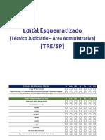 Edital Esquematizado - Técnico+Judiciário+-+Área+Administrativa_TRE_SP_atualizado