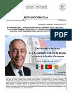 17-07-17 El Presidente de la República Marcelo Rebelo de Sosa, realiza una visita de Estado a México