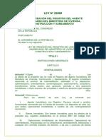 LEY N° 29080 REGISTRODELAGENTEINMOBILIARIODELMINITERIODEVIVIENDASANEAMIENTOYCONTRUSCCION