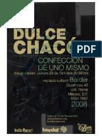 """Texto para la exposición """"Confección de uno mismo"""" de Dulce Chacón"""