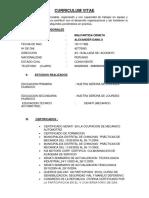 Curriculum Alexander Danilo