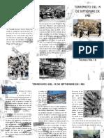 Terremoto del 11 de Septiembre de 1985 Tríptico