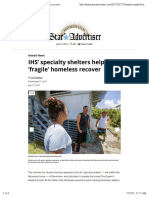 IHS' Specialty Shelters Help 'Fragile' Homeless Recover