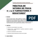 Capacitores y Resistores