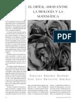 Biología y matemática