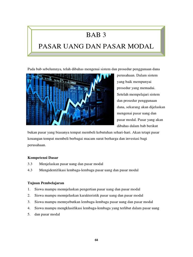 Bab Iii Pasar Uang Dan Pasar Modal