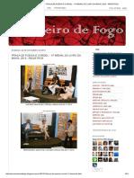 Cavaleiro de Fogo_ Praça de Poesia e Cordel - 11ª Bienal Do Livro Da Bahia, 2013 - Registros