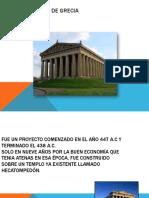 El Partenón de Grecia