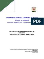 Metodología Para La Ejecución de Estudios Geotécnicos en Vía