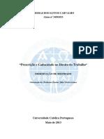 Prescrição e Caducidade No Direito Do Trabalho_Dissertação de Mestrado_Messias Carvalho_34501033