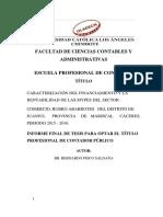 Financiamiento y Rentabilidad de Las Mypes