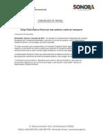 02-07-17 Exige Gobernadora Pavlovich más análisis a tarifa de transporte. C-071702