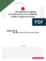 Módulo 11 Logistica Suprimentos Lei 8666