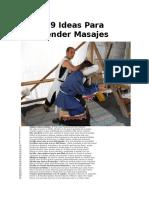99 Ideas Para Vender Masajes