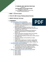 copy of at unit plan mu art ed lesson plan format docx